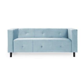 Canapea cu 3 locuri Vivonita Milo, albastru deschis de la Vivonita