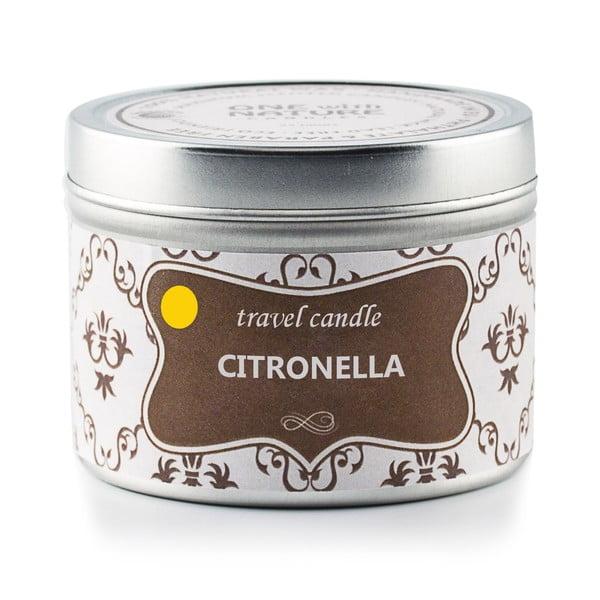 Vonná svíčka v plechovce Citronella, 25 hodin hoření