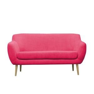 Růžová trojmístná pohovka se světlými nohami Mazzini Sofas Sardaigne