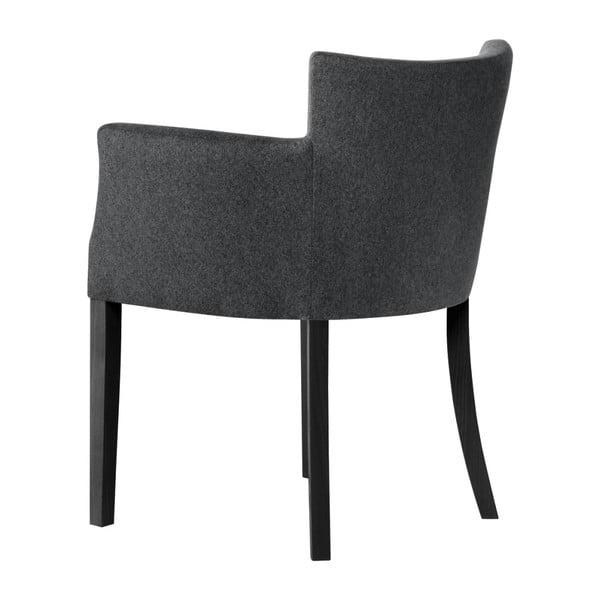 Antracitově šedá židle s černými nohami z bukového dřeva Ted Lapidus Maison Santal