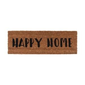 Rohožka s černým nápisem PT LIVING Happy Home, 26x75cm