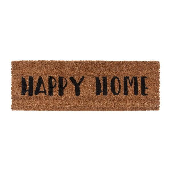 Happy Home lábtörlő fekete felirattal, 26 x 75 cm - PT LIVING