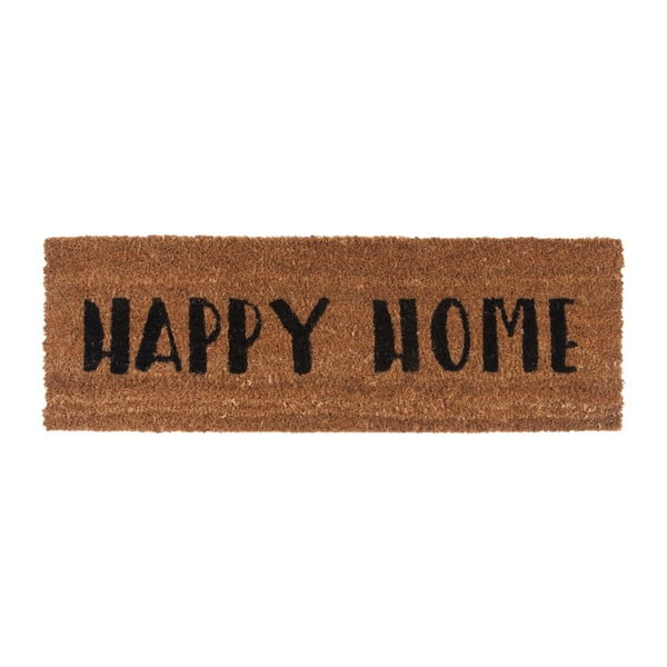 Preș PT LIVING Happy Home, 26 x 75 cm, scris negru