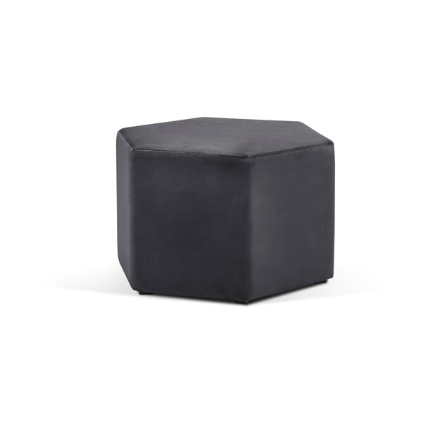Ciemnoszary puf Milo Casa Marina, ⌀ 60 cm