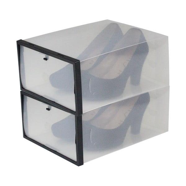 Sada 2 krabic na boty s černým lemem Jocca, 28x20,7cm