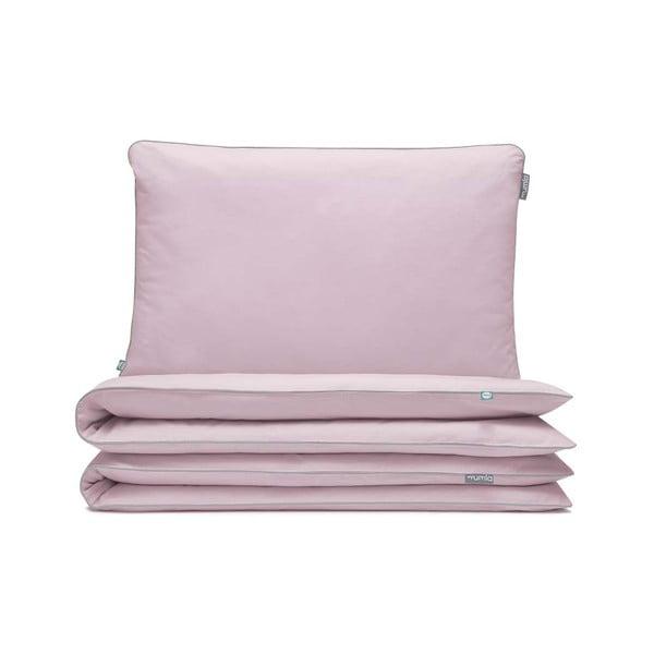 Svetloružové bavlnené posteľné obliečky hundre, 140×200 cm