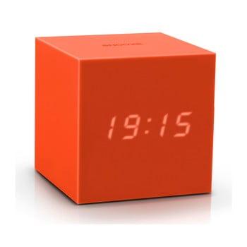 Ceas deșteptător cu LED Gingko Gravity Cube, portocaliu