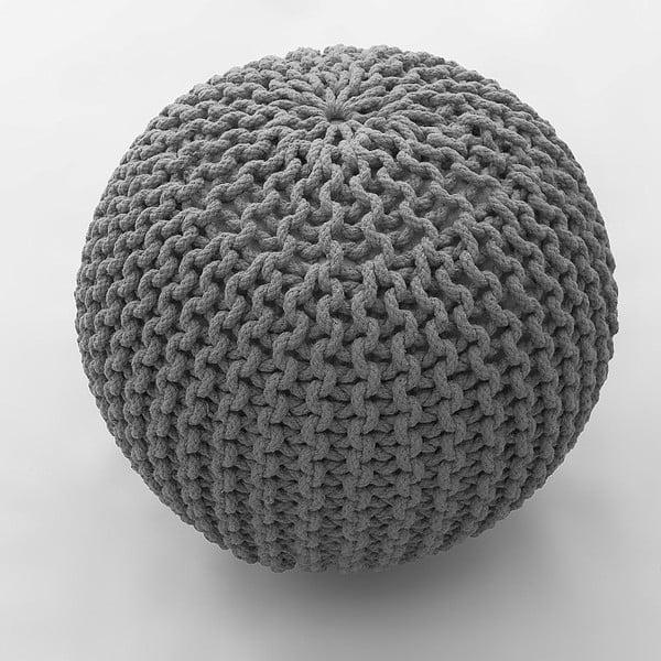 Oval ezüstszínű puff, 80 x 80 cm - Bakero