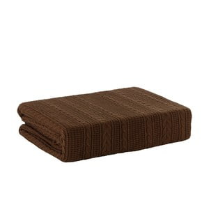 Pletená deka Chocolate, 170x220 cm