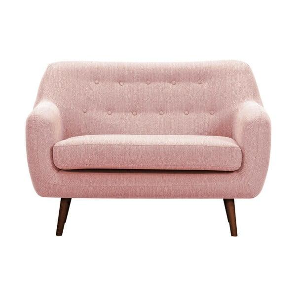 Lila világos rózsaszín kétszemélyes kanapé sötét lábakkal - Vivonita
