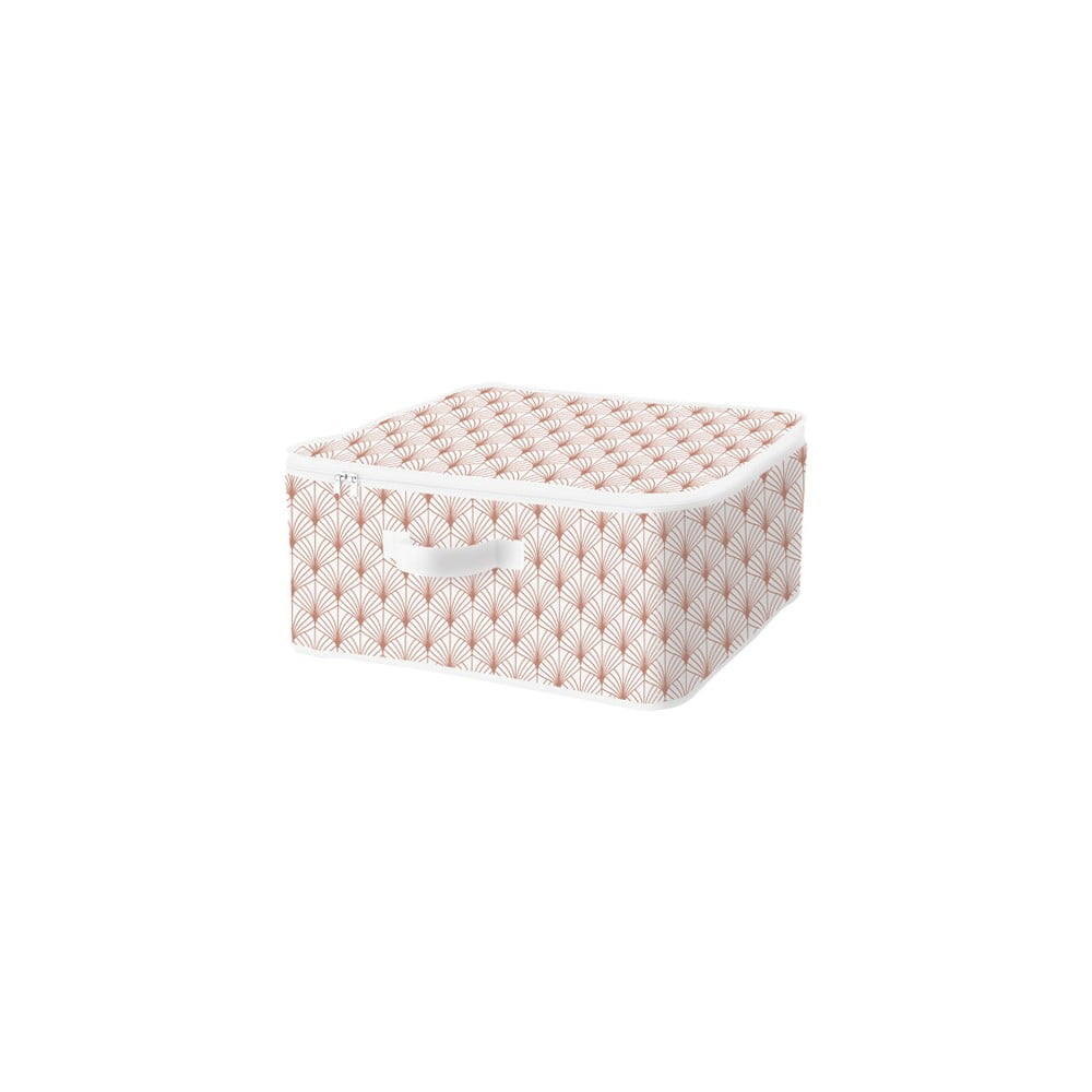 Úložný box na zip Compactor Blush Range Large Zipper Box, 46 x 20,5 cm