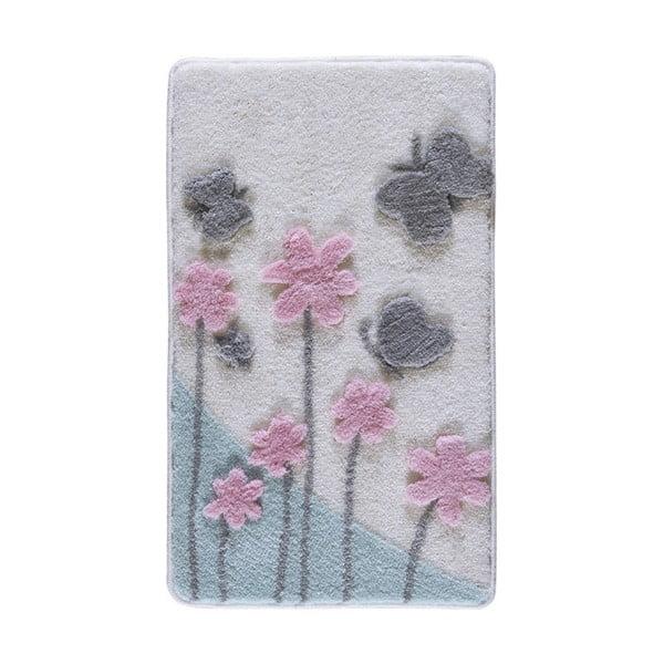 Předložka do koupelny s motivem květin Confetti Bathmats Etenna, 60 x 100 cm