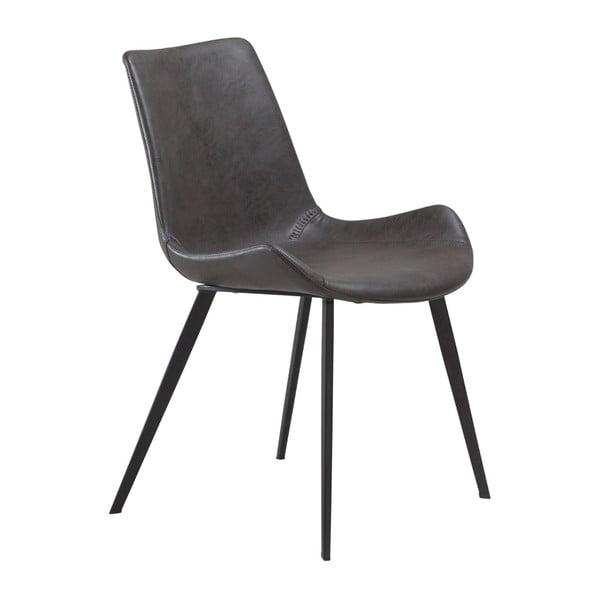 Sivá jedálenská stolička z eko kože DAN–FORM Denmark Hype