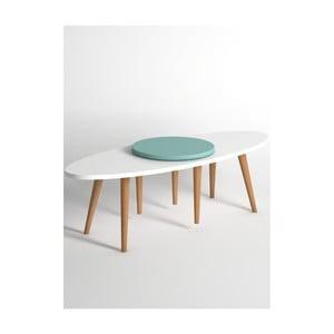 Modro-bílý konferenční stolek Monte Jenga
