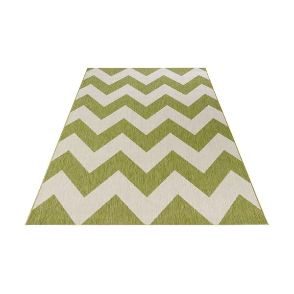 Zelenobílý venkovní koberec Bougari Unique, 160x230cm