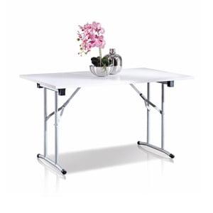 Bílý skládací stolek Terraneo