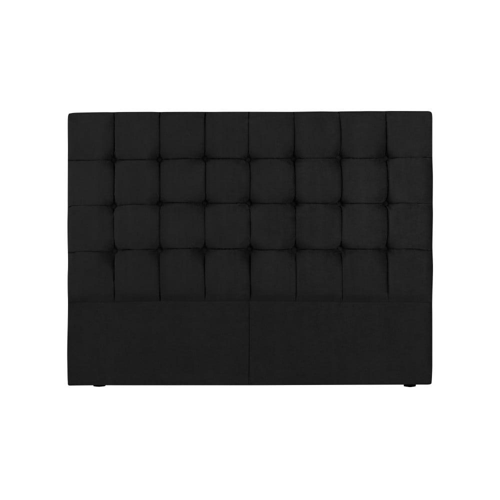Černé čelo postele Kooko Home Hasso, 120 x 140 cm