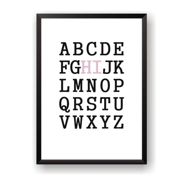Plakát Nord & Co Hi Alphabet, 21 x 29 cm