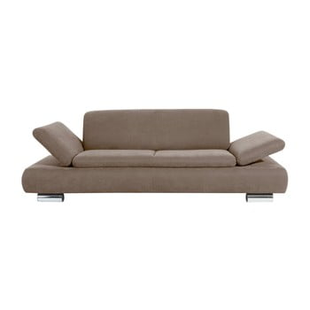 Canapea cu 3 locuri Max Winzer Terrence Anderson cotiere ajustabile maro deschis