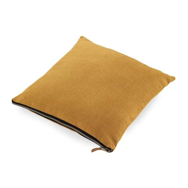 Musztardowa poduszka Geese Soft, 45x45cm