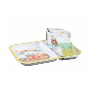 Dětský dělený talíř s hrnečkem Churchill China Noah's Ark