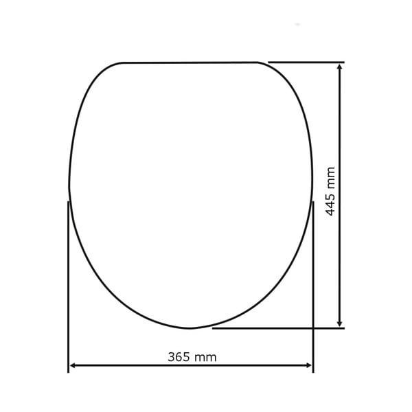 WC sedátko se snadným zavíráním Wenko Midtown, 44,5 x 36,5 cm