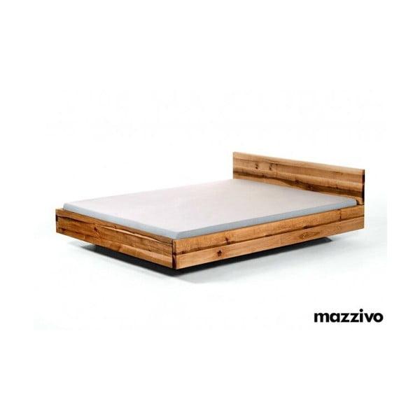 Vznášející se postel Pool z olšového dřeva, 200x200 cm, lněný olej