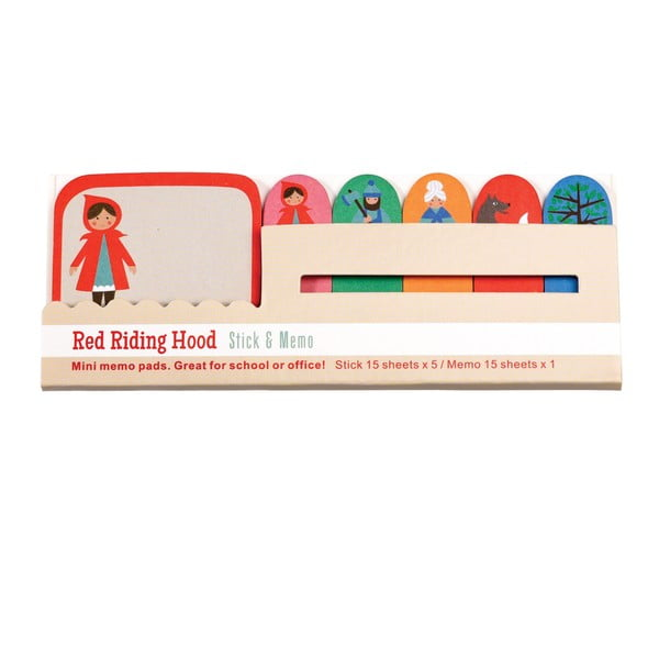 Set 6 blocuri de notițe Rex London Red Riding Hood