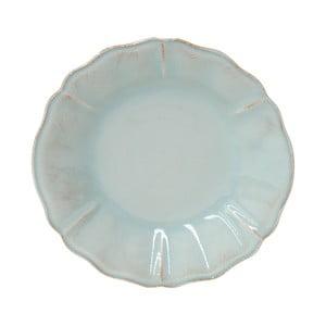 Tyrkysový kameninový polévkový talíř Costa Nova Alentejo, ⌀24cm