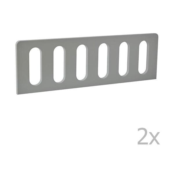 Sada 2 šedých zábran k dětské postýlce Pinio Modern, 200 x 90 cm