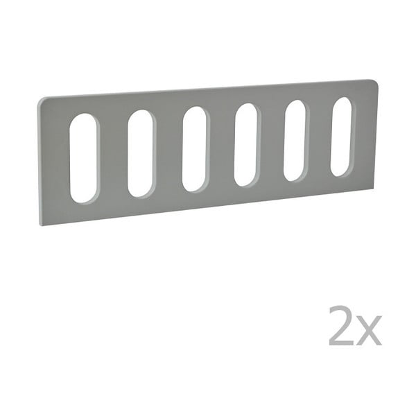 Modern 2 darab szürke leesésgátló, 200 x 90 cm - Pinio