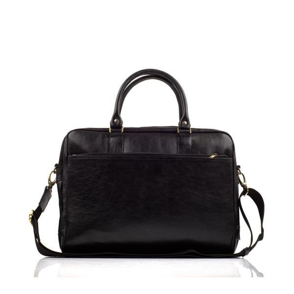 Pánská kožená taška Solier SL01, černá