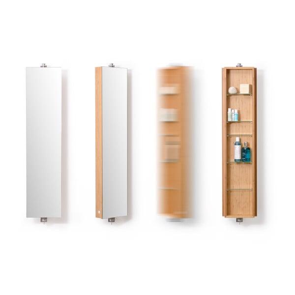 Bambusová kúpeľňová skrinka Wireworks Domain Bamboo, výška 110cm