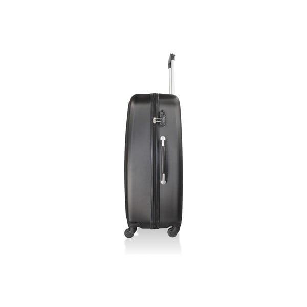 Sada 3 černých cestovních kufrů na kolečkách Hero Davis