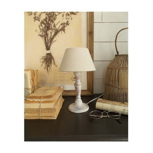 Bílá dřevěná stolní lampa Orchidea Milano, výška28cm
