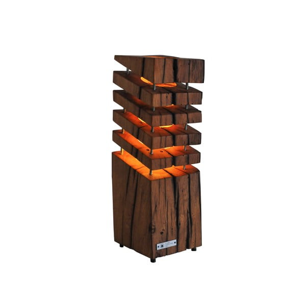 Veioză din lemn de stejar FLAME furniture Inc. Quadro
