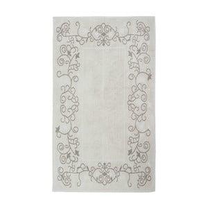 Krémový bavlněný koberec Floorist Floral, 120x180cm
