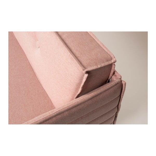 Lososově růžová třímístná pohovka  Zuiver Jaey