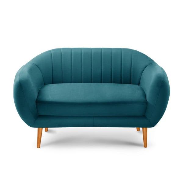 Tyrkysově modrá dvoumístná pohovka Scandi by Stella Cadente Maison Comete