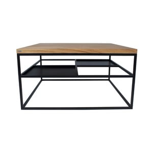 Černý konferenční stolek Take Me HOME Foursquare, 80x80cm