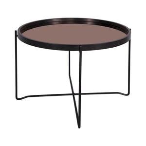 Černý konferenční stolek Leitmotiv Polished XL, 59 x 42 cm