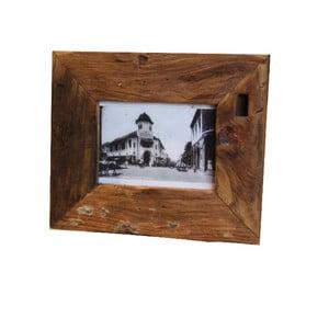 Rámeček  na fotografie z teakového dřeva HSM Collection Antique, 27x22cm