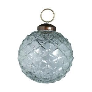 Set šesti skleněných ozdob Diamond, 7 cm, antique, průhledná