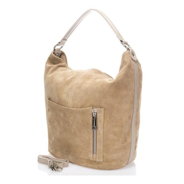 Kožená kabelka Lucinda, taupe