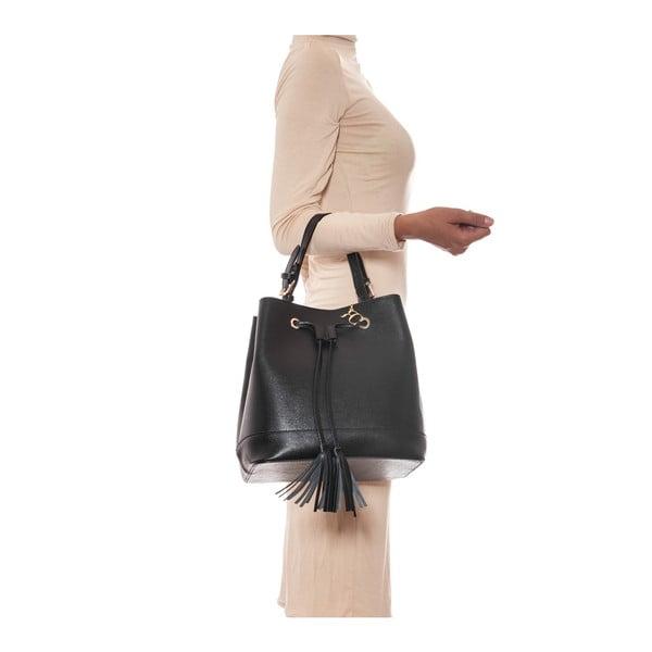 Kožená kabelka Renata Corsi 430, černá