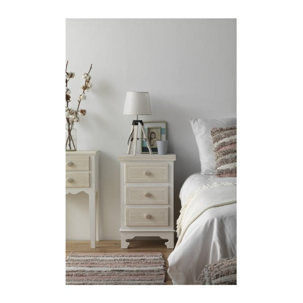 Dřevěný noční stolek s 3 zásuvkami Geese Ethel