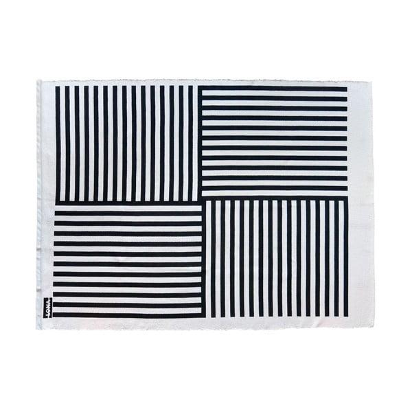 Koberec Lona Print 200x150 cm, černý/bílý