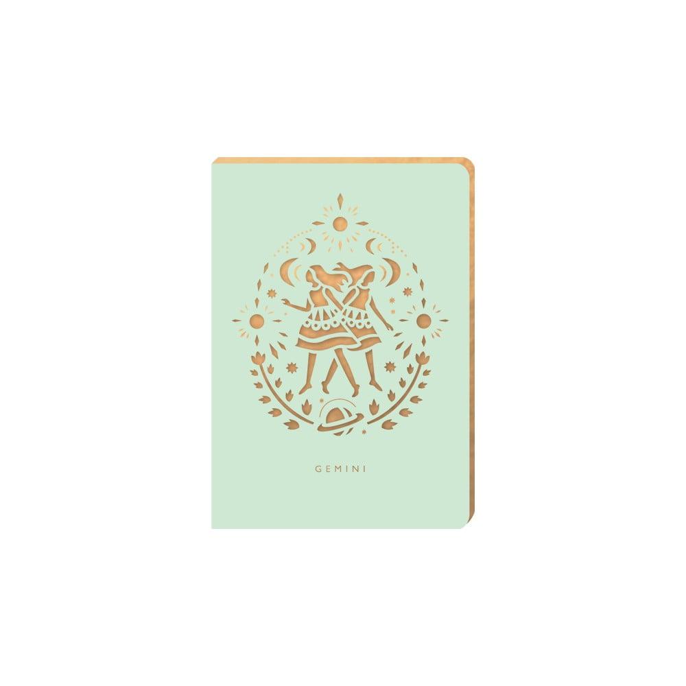 Linkovaný zápisník Portico Designs Blíženci, 124 stránek