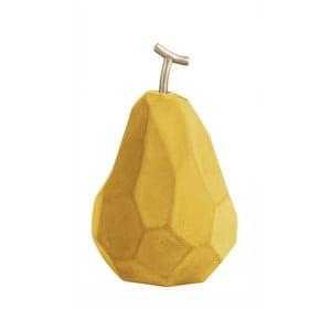 Matně okrově žlutá betonová soška PT LIVING Origami Pear