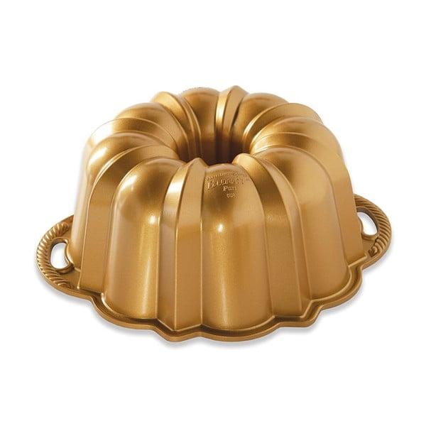 Formă pentru guguluf Nordic Ware Anniversary, 2,8 l, auriu